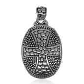 Bali Legacy Collection Sterling Silver Oval Cross Pendant without Chain (7.2 g)