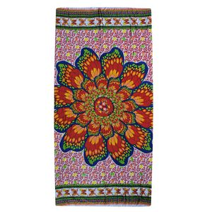 Multi Color Floral Pattern Rayon Sarong (70.8x47.2 in)