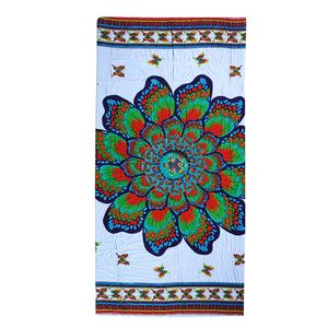 Multi Color Mandala Butterfly Print Rayon Sarong (70x45 in)