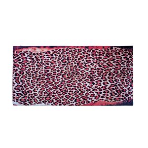 Red and Black Leopard Print 100% Rayon Sarong (70x45 in)