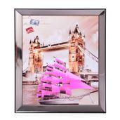 London Bridge Glittered Oil Painting with LED Light (13x11 in) (2 AA Batteries Not Included)