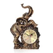 Elephant Shape Resin Clock (8.26x5.11x2.75 in) (AA Batteries Not Included)