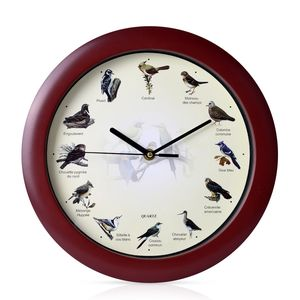 Bird Resin Fancy Wall Clock (11.4x11.4x1.18 in) (AA Batteries Not Included)