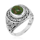 Bali Legacy Collection Mojave Green Turquoise Sterling Silver Ring (Size 9.0) TGW 4.610 cts.