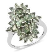 Forte Dauphin Apatite Platinum Over Sterling Silver Ring (Size 8.0) TGW 4.30 cts.