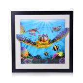 Sea Animals Printed 3D Painting (16.5x16.5 in)