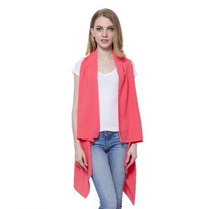 Coral 100% Polyester Waterfall Kimono (One Size)