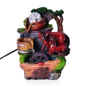 Multi Color Chroma Horses Water Fountain with Rotating Ball (6.8x10.2x5 in)