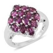 Mahenge Umbalite Platinum Over Sterling Silver Ring (Size 7.0) TGW 4.00 cts.