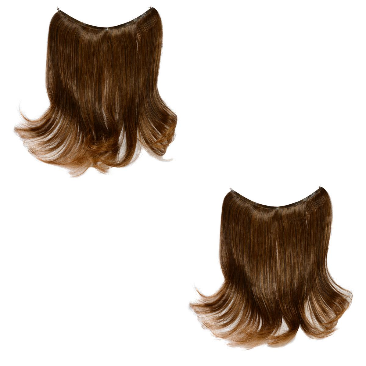 Easy Wear Extensions Double Up Set of 2 (Light Brown)