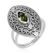 Bali Legacy Collection Hebei Peridot Sterling Silver Split Ring (Size 6.0) TGW 1.00 cts.