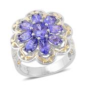 Premium AAA Tanzanite 14K YG Over and Sterling Silver Ring (Size 8.0) TGW 2.75 cts.