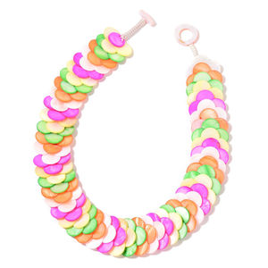 Multi Color Shell Necklace (18 in)