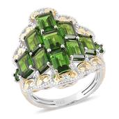 Russian Diopside 14K YG Over and Sterling Silver Ring (Size 6.0) TGW 5.09 cts.