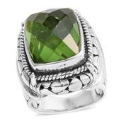 Bali Legacy Collection Chartreuse Quartz Sterling Silver Ring (Size 6.0) TGW 11.32 cts.