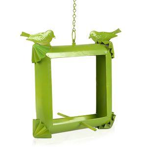 Green Iron Bird House