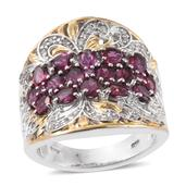 Mahenge Umbalite, Cambodian Zircon 14K YG and Platinum Over Sterling Silver Ring (Size 6.0) TGW 3.28 cts.