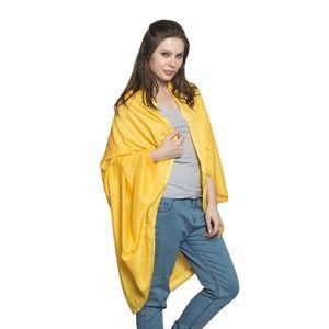 Lemon Yellow 100% Rayon Cocoon Wrap Kimono (Free Size)
