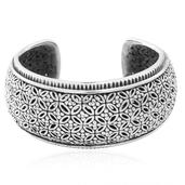 Black Oxidized Sterling Silver Cuff (7.50 in) (35 g)