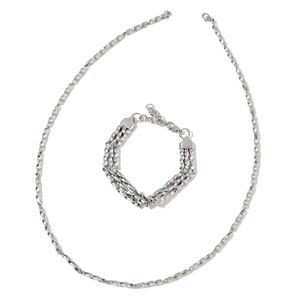 Stainless Steel Bracelet (7.50 in) and Necklace (24.00 In)