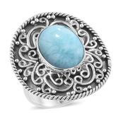 Artisan Crafted Sea Mist Larimar Sterling Silver Ring (Size 7.0) TGW 9.85 cts.