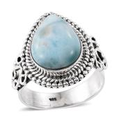 Artisan Crafted Sea Mist Larimar Sterling Silver Ring (Size 8.0) TGW 6.75 cts.
