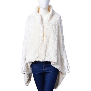 White Cozy 100% Polyester Faux Fur Vest (One Size)