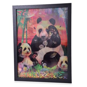 Panda 3D Painting with Photo Frame (16.7x12.7 in)
