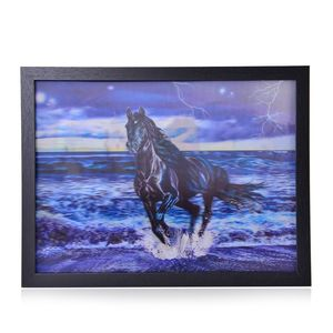 Horse 3D Painting with Photo Frame (16.7x12.7 in)
