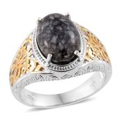 Austrian Pinolith 14K YG and Platinum Over Sterling Silver Ring (Size 8.0) TGW 6.50 cts.