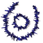 Lapis Lazuli Sterling Silver Chips Bracelet (Stretchable) and Necklace (18.00 In) TGW 544.50 cts.