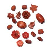 LC DIY Bamboo Coral Charms TGW 384.00 cts.