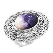 Utah Tiffany Stone Sterling Silver Ring (Size 6.0) TGW 11.95 cts.