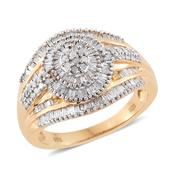 Diamond 14K YG Over Sterling Silver Ring (Size 10.0) TDiaWt 1.00 cts, TGW 1.00 cts.