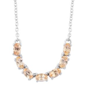 Imperial Topaz Platinum Over Sterling Silver Necklace (18 in) TGW 1.73 cts.