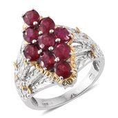 Niassa Ruby (FF) 14K YG and Platinum Over Sterling Silver Ring (Size 7.0) TGW 5.20 cts.