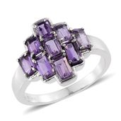 Rose De France Amethyst Stainless Steel Ring (Size 5.0) TGW 2.52 cts.