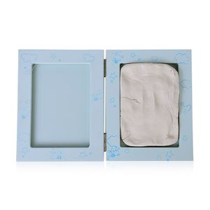 Blue Clay Baby Handprint and Footprint Keepsake Photo Frame Kit (5.03x6.5x1.1 in)