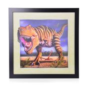 Dinosaur Printed 3D Painting (16.5x16.5 in)