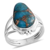 Santa Fe Style Mojave Blue Turquoise Sterling Silver Ring (Size 8.0) TGW 1.50 cts.