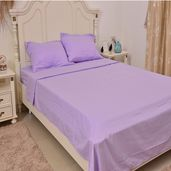 Lilac Micofiber Flat Sheet (90x102 in), Fitted Sheet (60x80 in) and Set of 2 Pillow Cases (20x30 in)