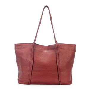 Red Genuine Leather RFID Tote Bag (15x4.5x11.5 in)