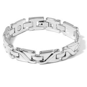 Magnetic Jewelry Silvertone Bracelet (7.00 In)