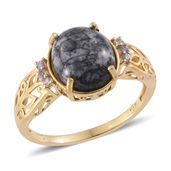 Austrian Pinolith, Tanzanite 14K YG Over Sterling Silver Ring (Size 8.0) TGW 5.24 cts.