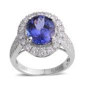 ILIANA 18K WG Premium AAA Tanzanite, Diamond Ring (Size 7.0) TDiaWt 1.22 cts, TGW 5.08 cts.