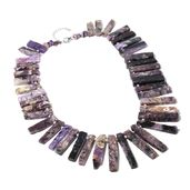 Charolite, Chroma Beads Sterling Silver Necklace (18 in) TGW 472.50 cts.