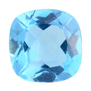 Electric Blue Topaz (Cush 11x11 mm) TGW 5.50 cts.