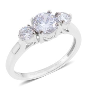 Simulated Diamond Stainless Steel Ring (Size 8.0) TGW 2.01 cts.