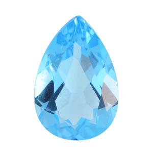 Electric Swiss Blue Topaz (Pear 12x8 mm) TGW 3.00 cts.