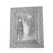 Oxidized Picture Frame with Statue of Liberty Embossed (11x9 in)